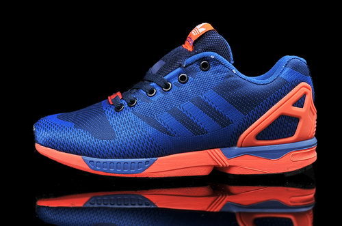 Mens Adidas Zx Flux Weave Blue Red Outlet